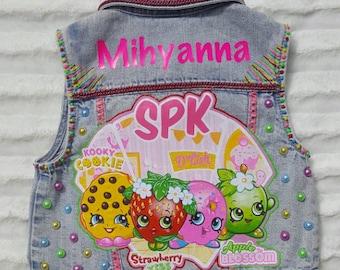 Shopkins outfit, shopkins vest, shopkins shirt, shopkins birthday outfit, shopkins shoes, shopkins birthday, girls birthday vest, shopkins