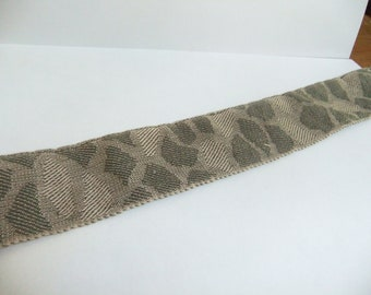 12 Yds. Conso Woven Braid Jacquard Ribbon Trim - 1 1/2 Inches Wide in Shades of Grey