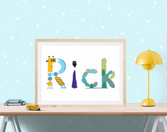 Customised A4 Name Print - Personalised For Your Child