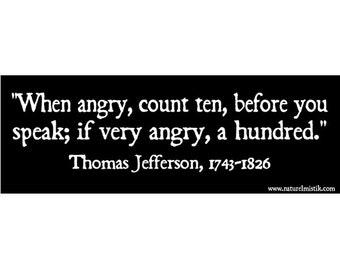 Bumper Sticker: Thomas Jefferson Quote