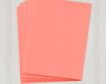 25 Sheets of Text Paper - Coral and Peach - DIY Invitations - Paper for Weddings & Other Events