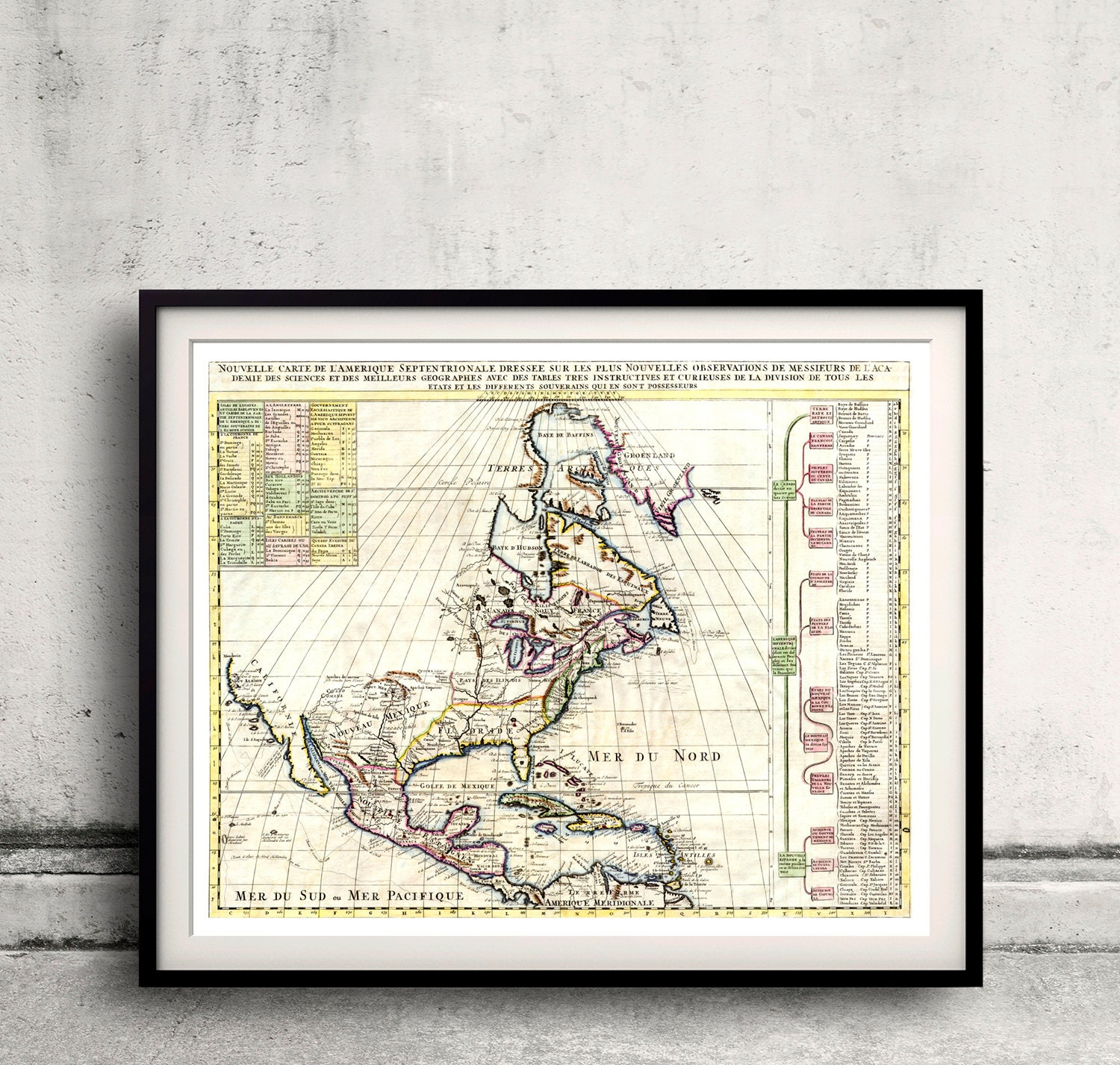Map of north america by chatelain 1720 sku 0209 zoom gumiabroncs Image collections