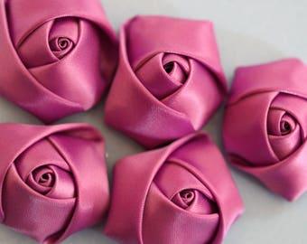 Flower purple Rosebud fabric scrapbooking
