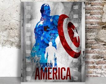 Captain America poster, Captain America print, Avengers wall decor, Superhero, Marvel, Comic art, Wall art, Gift for men, FamoustarsPrints.