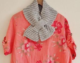 Grey knit scarf, grey knitted scarf, women's scarves, knitted scarf, grey knitted scarves, grey knit scarves, knitting scarves, scarves 195