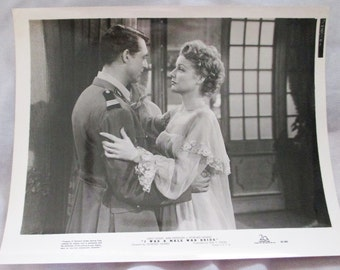 Vintage 1949's Press release of I Was a Male War Bride with Cary Grant and Ann Sheridan- Estate find!