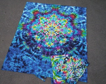 KaleidoDream - Duvet Cover Set  Or  Sheet Set  - with matching  pillow cases - Organic Cotton - Tie Dye