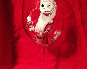 Jack skellington wine glass