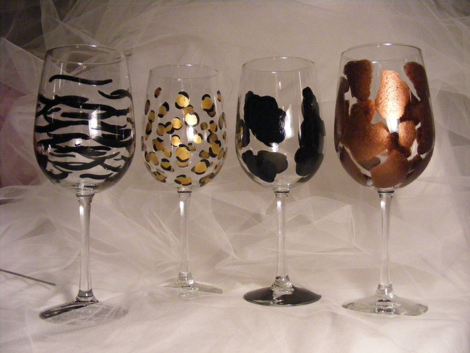 Painted animal print wine glasses on oversize wine glasses reviewsmspy