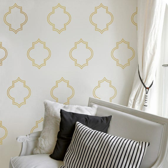 Good Gold Moroccan Decals Gold Wall Decal Living Room Decor Gold
