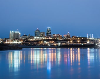 Kansas City Skyline taken from Kaw Point, Fine Art Photography by Pitts Photography
