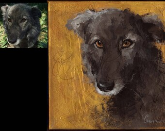Dog Painting - Custom Pet Portrait From Photo - Animal Lover Gift - Dog Portrait Painting