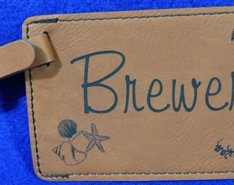 Luggage Tag ~ Wedding Gift ~ Destination Wedding Gift ~ Leather Tag ~ Gift For Traveler ~ Destination Wedding ~ Travel Gifts ~ Tropical Gift