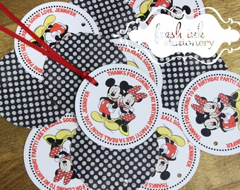 Mickey and Minnie Mouse Favor Tags