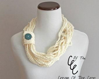 Chain Scarf | Crochet Pattern | Chain Scarf Crochet Pattern | Crochet Chain Scarf Pattern | Crochet Adult Chain Scarf Pattern | PDF Pattern