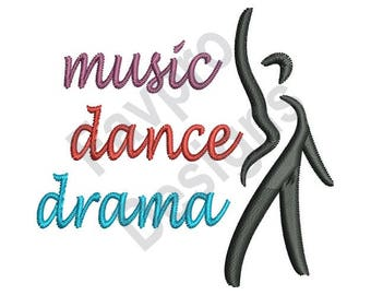 Music Dance Drama - Machine Embroidery Design
