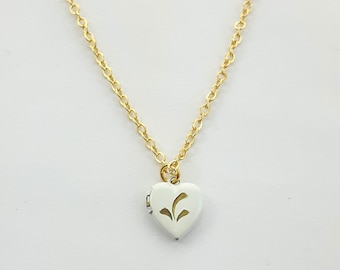 Tiny Vintage Heart Locket