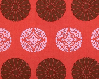 Amy Butler Cameo Pressed Flowers in Carmine - One Yard