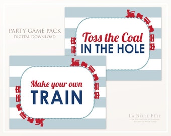 PARTY GAME PACK Choo Choo birthday party