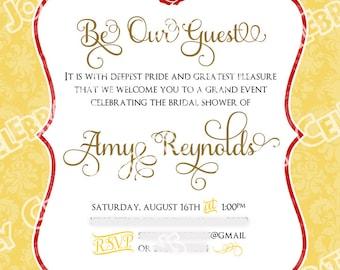 Wedding Program Beauty and the Beast Printable Wedding