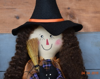 Primitive Halloween Raggedy Ann Witch
