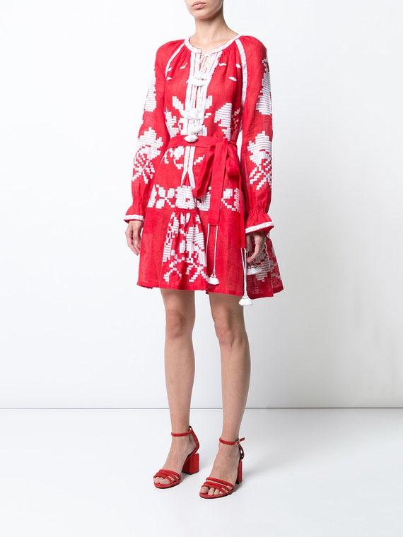 dress clothing luxury rustic embroidered short dress women robe dress floral women ljm summer dress Red dress womens tgF4B