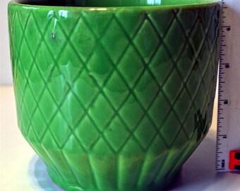 """Vintage Green """"Shawnee"""" Planter"""