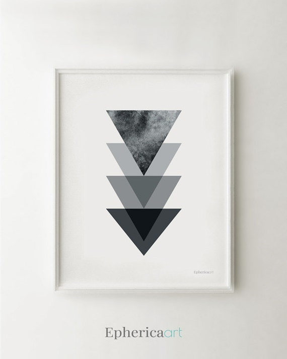 Black And White Geometric Artwork