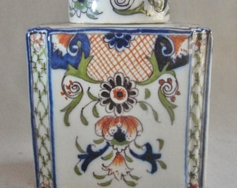 19th Century French Faience Tea Caddy -  Signed Desvres