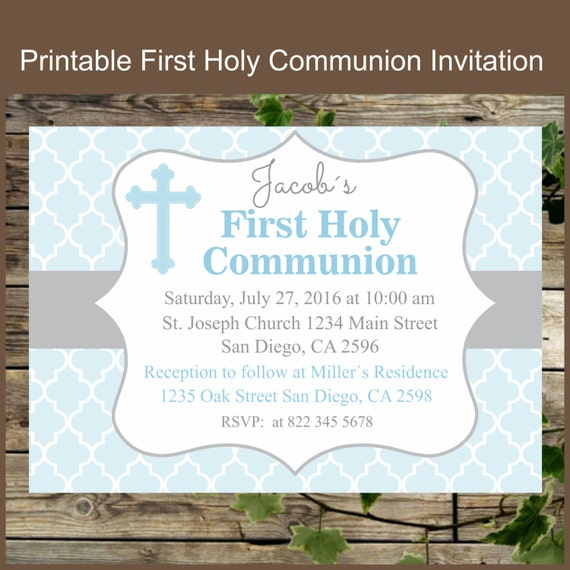 Lucrative image intended for first communion invitations free printable