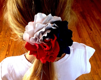 """Independence day USA 4th of july bow Patriotic hair bow  American bow 3,2"""" Patriotic bow Red white blue bow headband 4th of july baby outfit"""