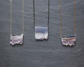 Amethyst Necklace / Amethyst Jewelry /Raw Amethyst Necklace / Gemstone Necklace / Raw Crystal Necklace