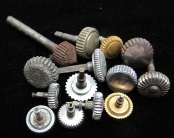 Steampunk Vintage Antique Watch pocket Watch parts crowns CS 84