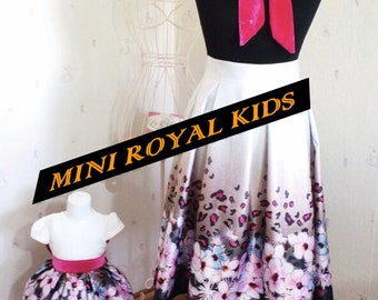 MOMY & I COLLECTION : Mother and daughter Flower Skirt and dress Set