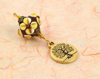 Blessingway bead - Earth and Tree of Life - Mother Blessing bead, mama goddess