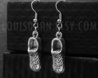 Silver Sneaker Earrings -Running Shoes Earrings -Gift For Her -With Gift Box