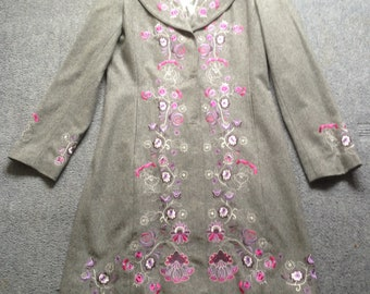 Ladies hand embroidered Coat.