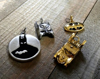 Batman Charms DC Comics Charms Assorted Charms Super Hero Charms Batman Symbol Word Charms Gold Charms Silver Charms Licensed PREORDER