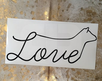 Show Cattle Love Show Heifer Vinyl Sticker