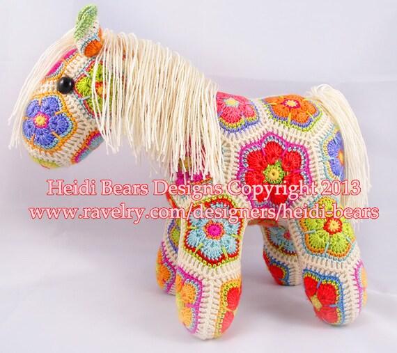 Lumpkin graso el Pony valiente flor africana ganchillo patrón de ...