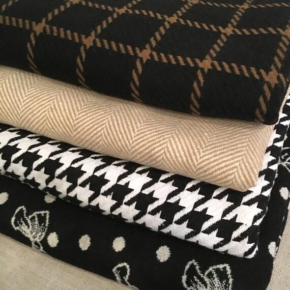 Throw Blanket   Windowpane Throw Blanket, Bow Throw Blanket, Houndstooth Throw Blanket, Plaid Throw Blanket, Housewarming Gift, Hostess Gift