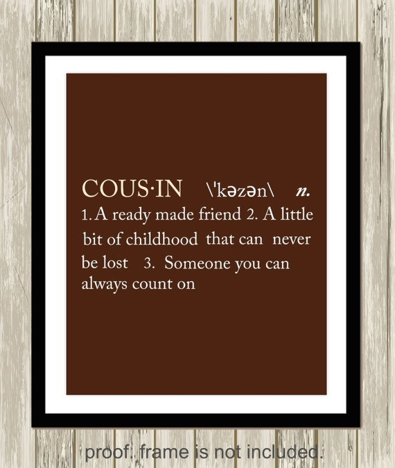 Cousin definition sister definition brother definition gift