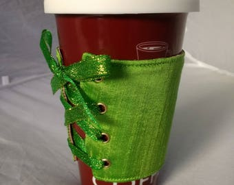 Green & Pink Coffee Cup Corset