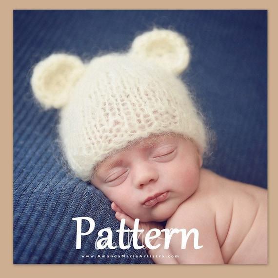 Baby Bear Beanie Knitting Pattern Easy Baby Knitting Pattern