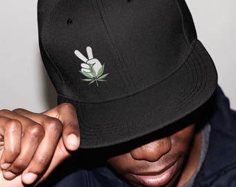 Peace & Weed Adjustable Snapback Hat