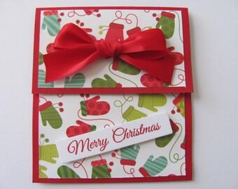 Christmas Gift Card Holder, Mitten Gift Card, Christmas Cards, Holiday Gift Card Holders, Christmas Money Card, Merry Christmas Gift Card