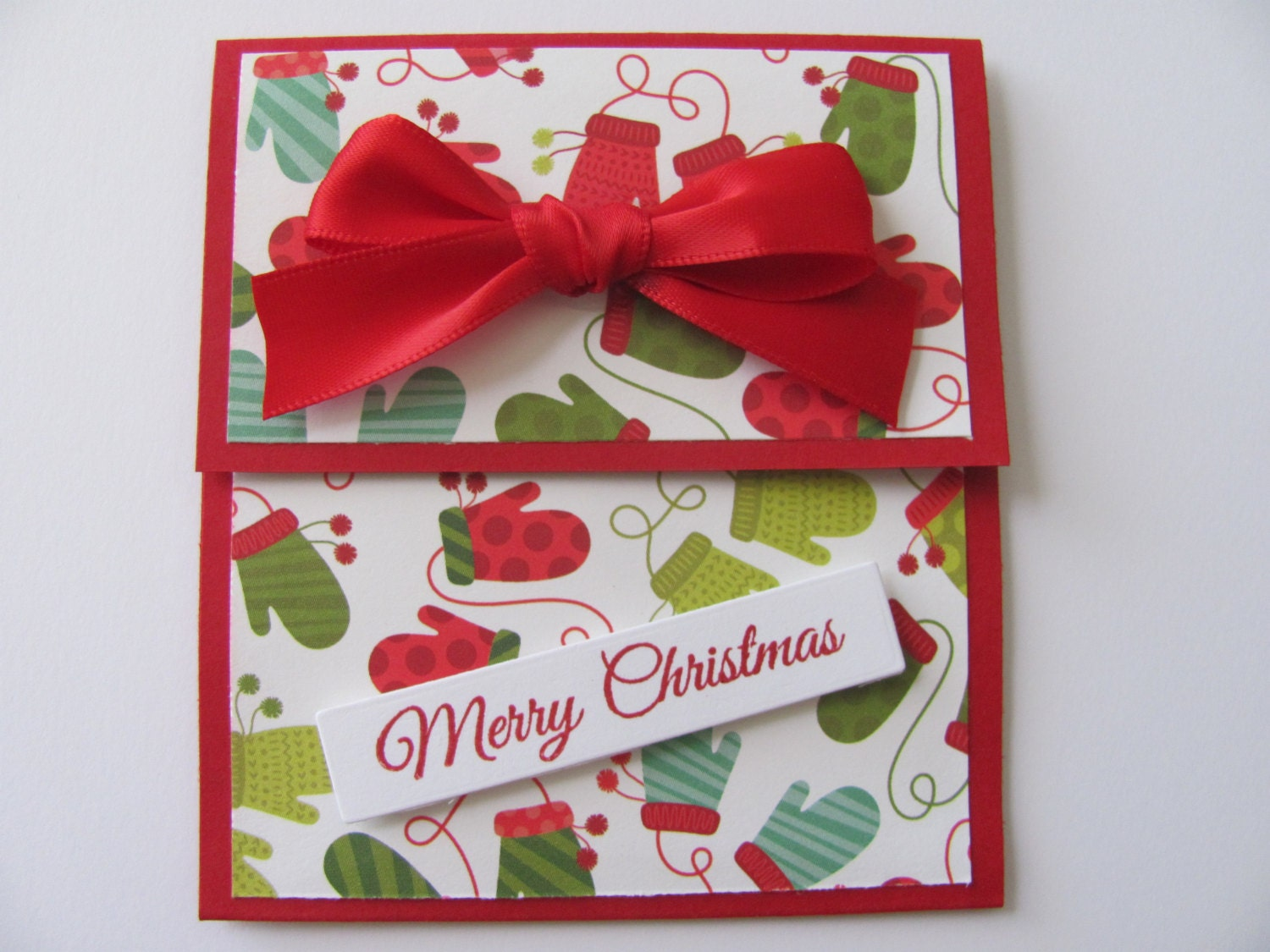 Christmas Gift Card Holder Mitten Gift Card Christmas Cards