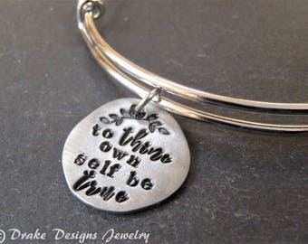 To thine own self be true inspirational Shakespeare bracelet