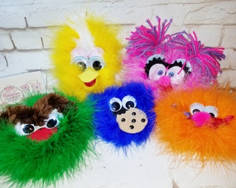 Sesame Street Characters, Elmo Headband, Cookie Monster Headbands, Girls Headbands, Sesame Street for Girls, Elmo Barrette, Party Favors