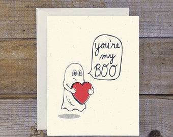 C-0807 You're My Boo Ghost Card (Red)